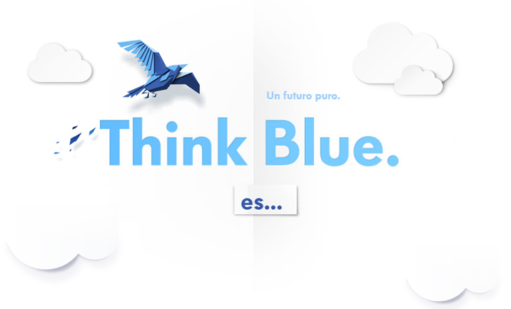 Think Blue website