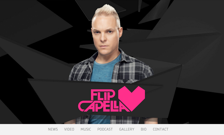 Flip Capella website