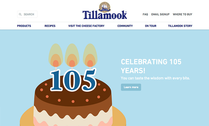 Tillamook website