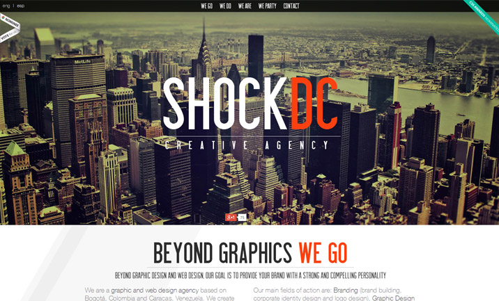 SHOCK DC Creative Agency website