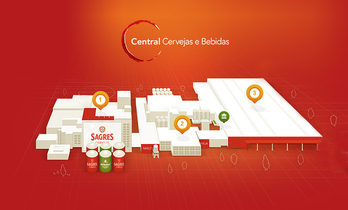 Sagres Beer Factory website