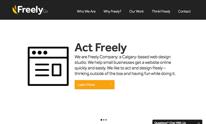Freely Company website