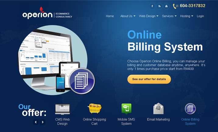 Operion Malaysia website