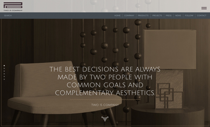 Two is company website