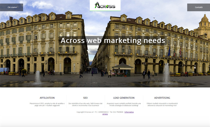 Across Web Agency website