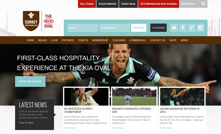 KIA Oval  website