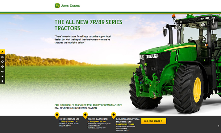 John Deere new 7R/8R website