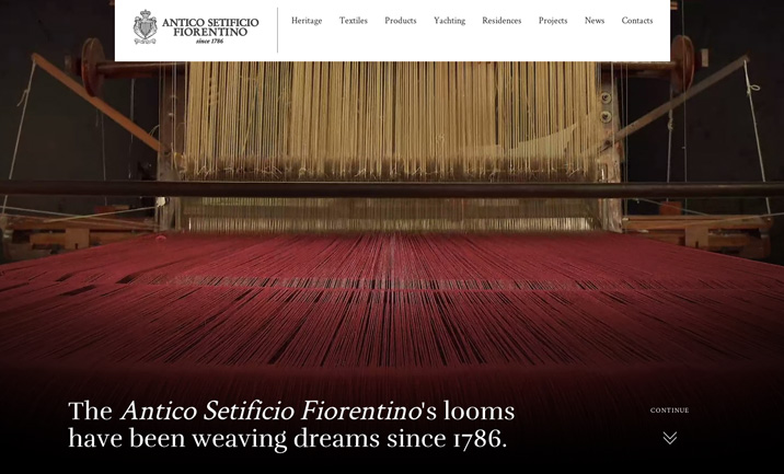 Setificio Fiorentino website