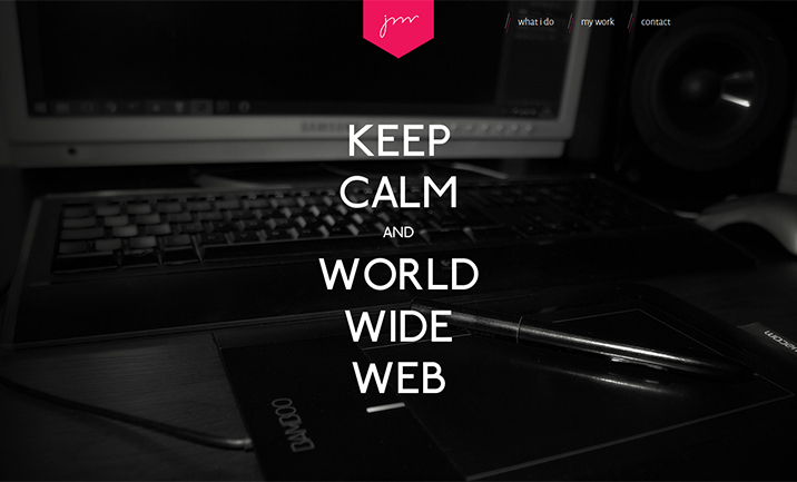 Keep calm and WWW website