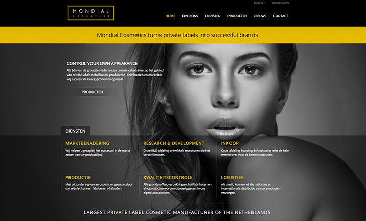 Mondial Cosmetics website