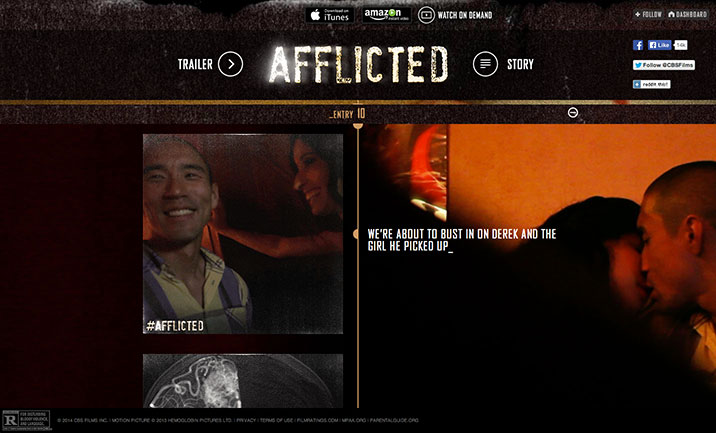 Afflicted website