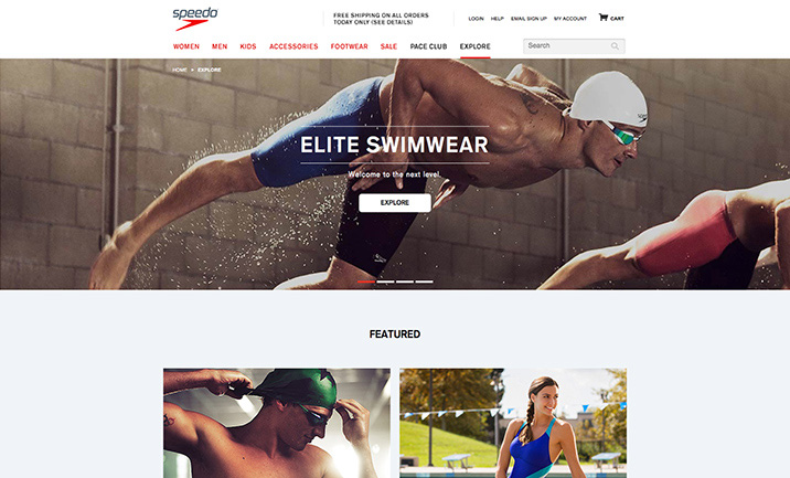 Speedo USA website