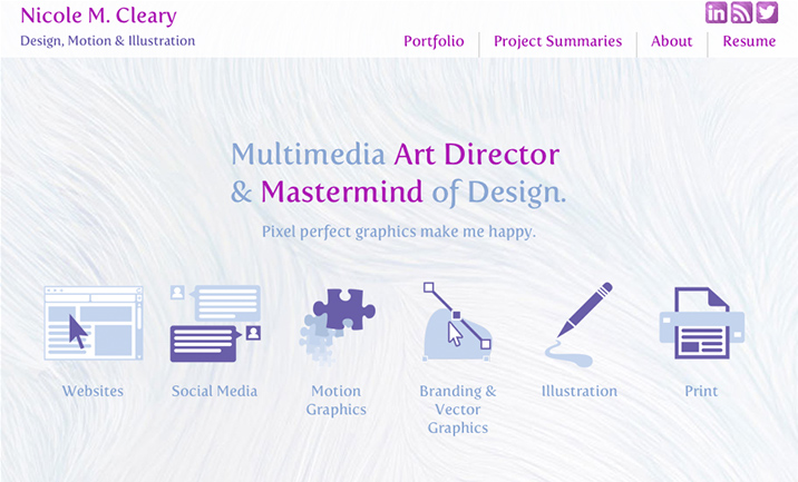 N.Cleary's Portfolio website