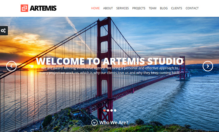 Artemis One Page Theme website