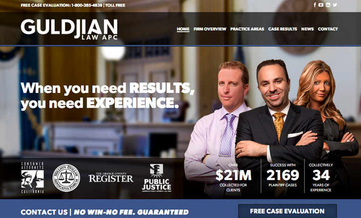 Guldjian Law, APC website