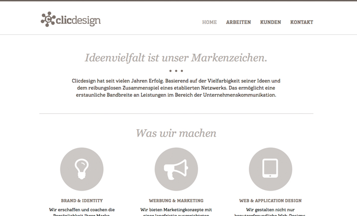 clicdesign ag website