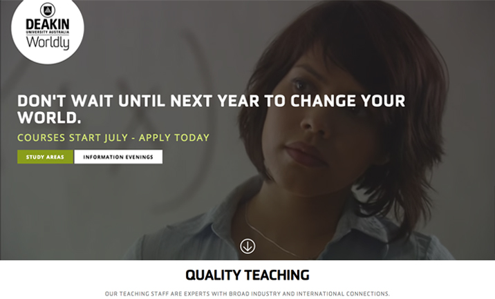 Deakin Midyear Site website