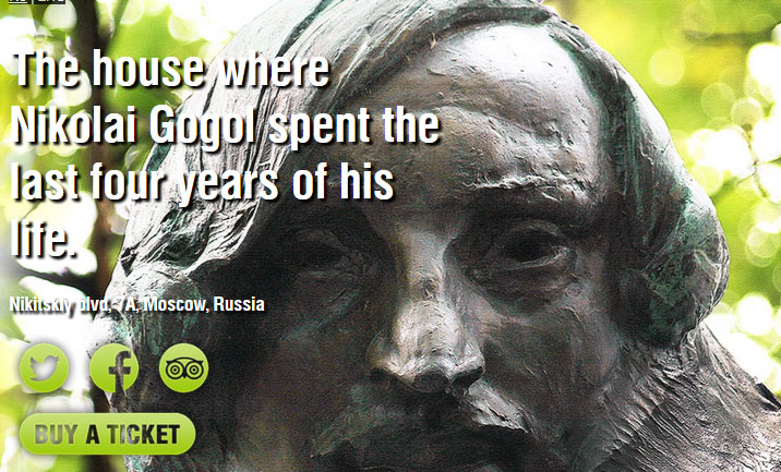 Nikolay Gogol's house website