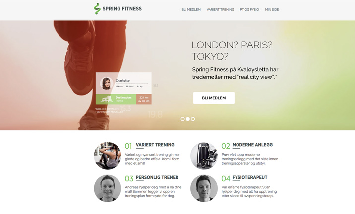 Spring Fitness website