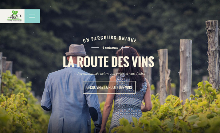 La route des vins website