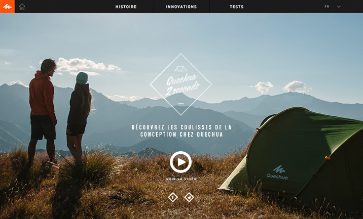 Quechua 2Seconds website