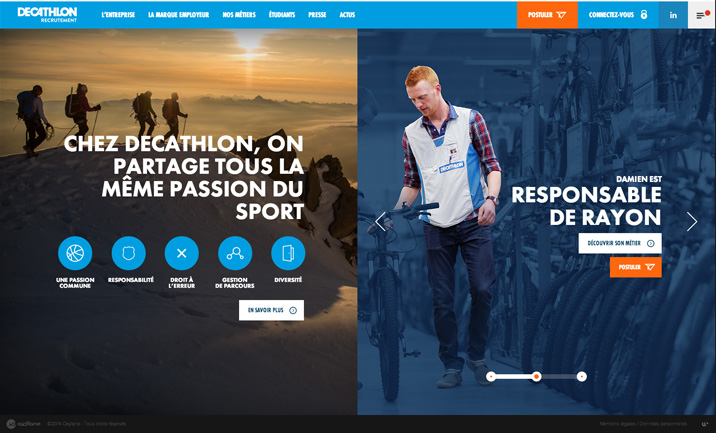Decathlon Recruitment website