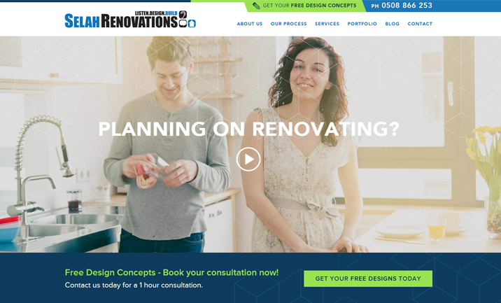 Selah Renovations website