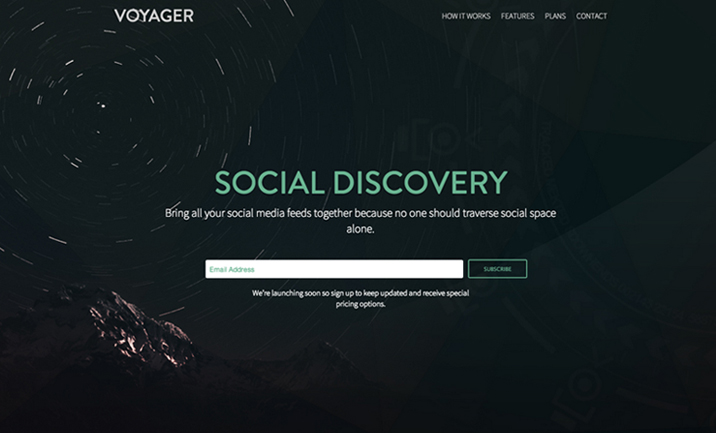 Voyager website