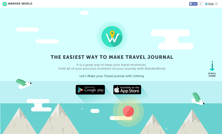 WanderWorld website