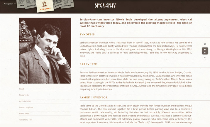 Nikola Tesla Tribute screenshot 3