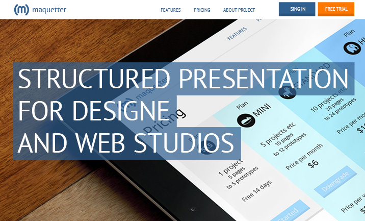 Presentation for design studios website
