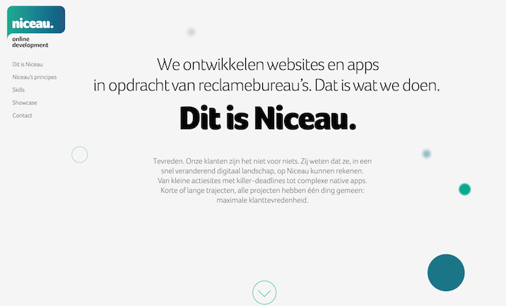 Niceau website