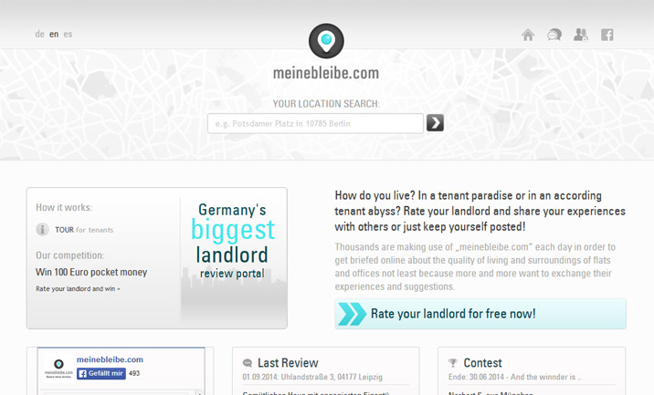 meinebleibe - Rate your landlord website