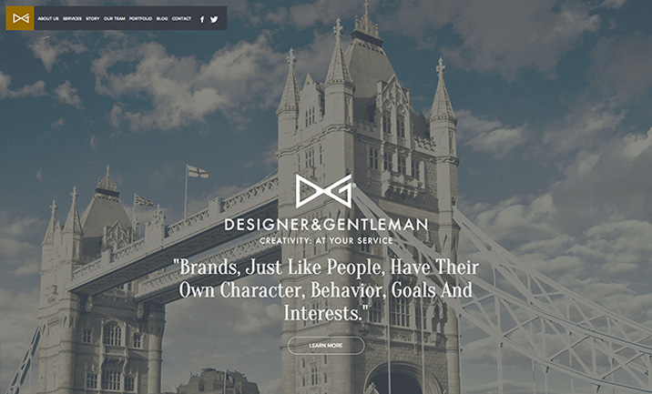 Designer and Gentleman website