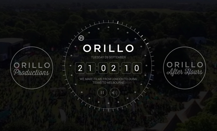 Orillo Productions website