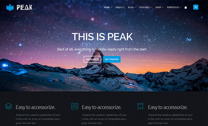 Peak - Royal MultiPurpose Retina website