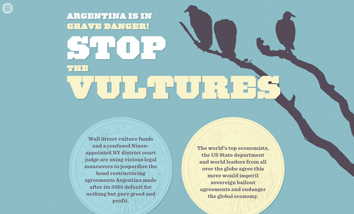 Stop the Vultures! website