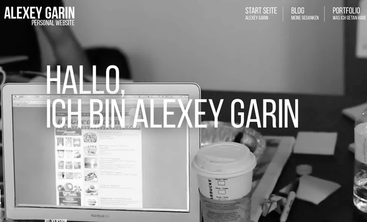 Alexey Garin - Personal Web Site