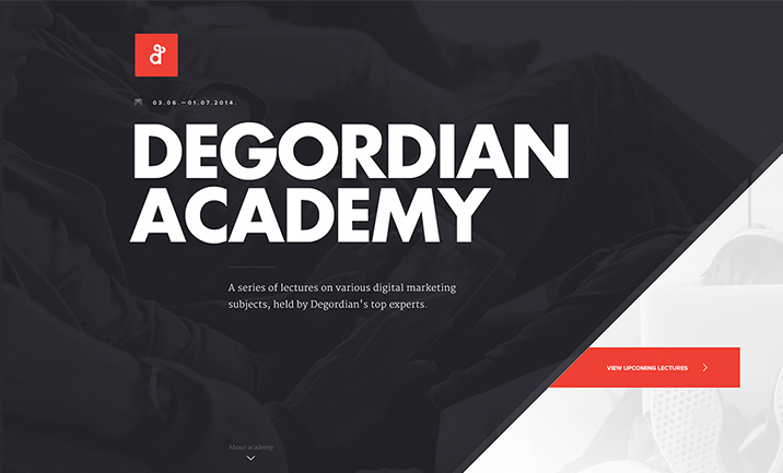 Degordian Academy website