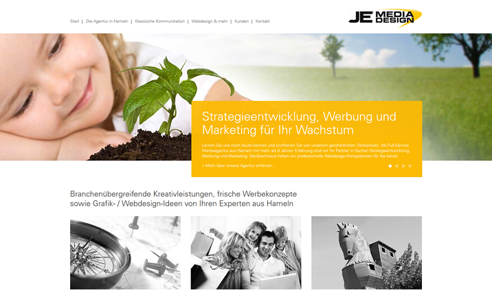 JE MediaDesign Webdesign website
