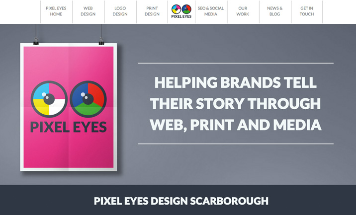 Pixel Eyes website