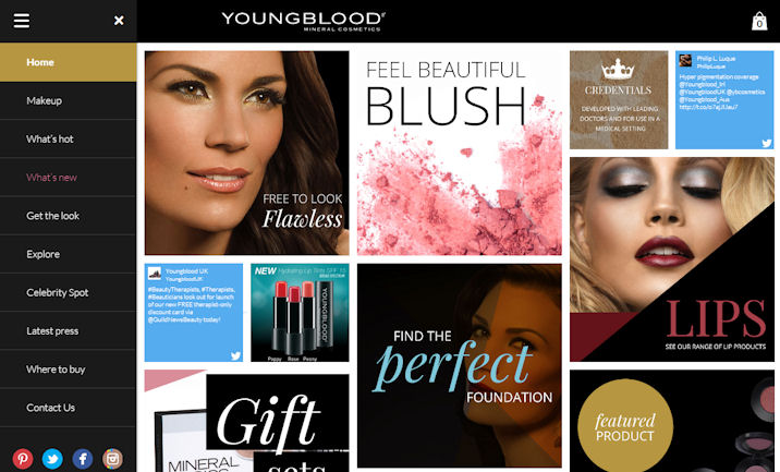 Youngblood eCommerce website