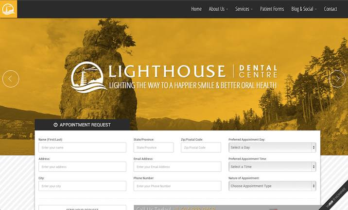 Lighthouse Dental Centre website