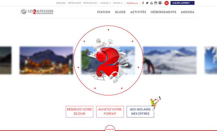 Les 2 Alpes website