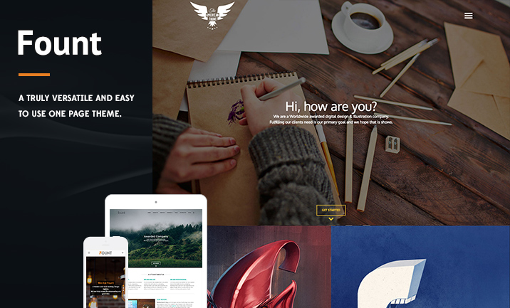 Fount - Hybrid Wordpress Theme website