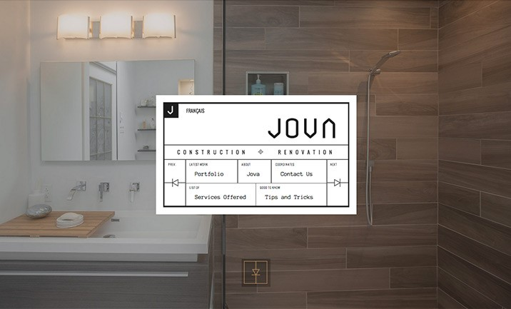 Jova Construction website