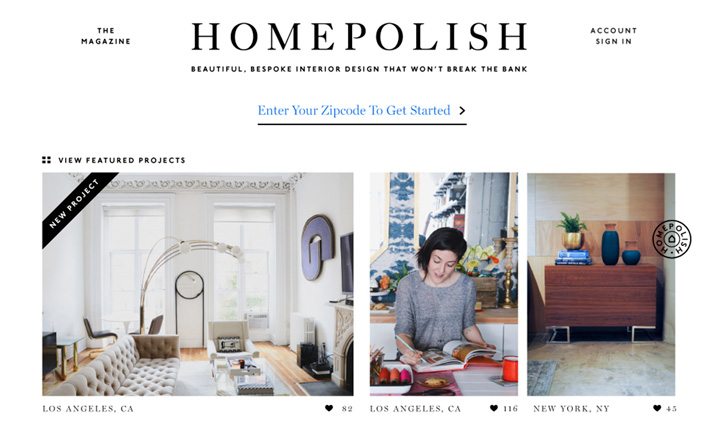 Homepolish  website