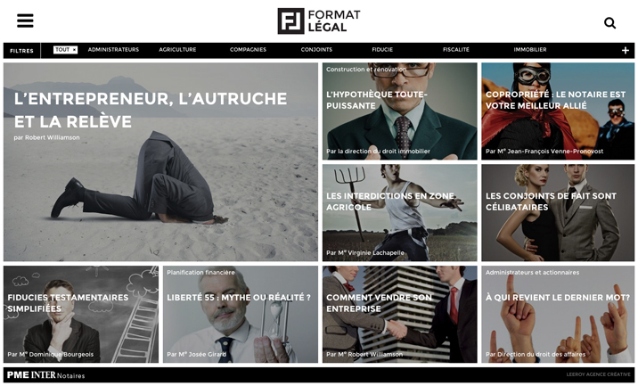 Format Légal website