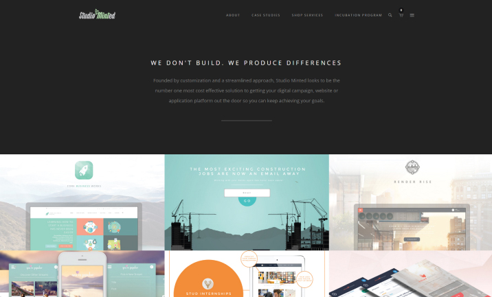 Studio Minted - Incubated Design website