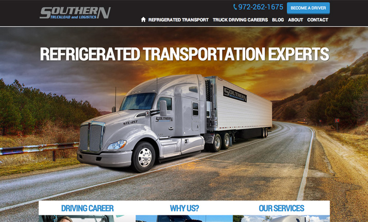 Southern Truckload & Logistics website